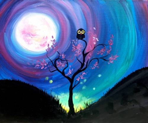 A Where the Wild Things Are paint nite project by Yaymaker
