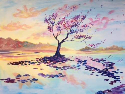 A Sunset Serenity paint nite project by Yaymaker