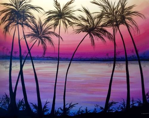 A That Summer Glow paint nite project by Yaymaker