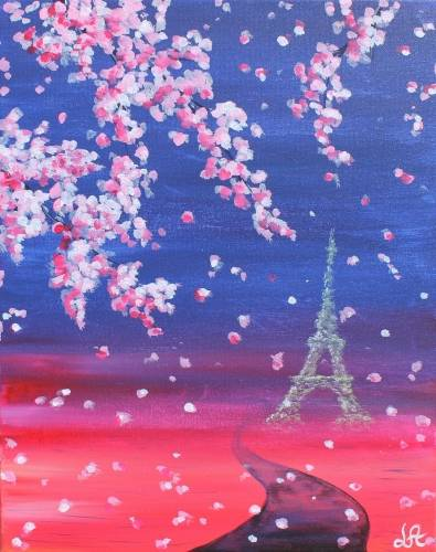 A Blooming Paris II paint nite project by Yaymaker