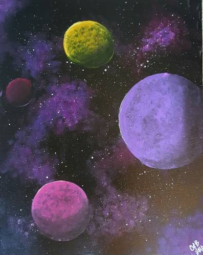A Beyond The Milky Way paint nite project by Yaymaker