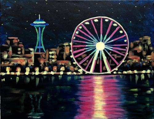 A The Needle And The Wheel paint nite project by Yaymaker