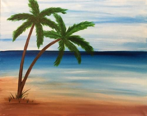 A On Some Beach paint nite project by Yaymaker