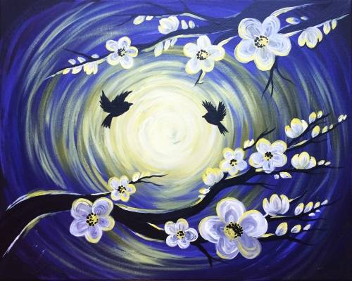 A Blooming In The Moonlight paint nite project by Yaymaker