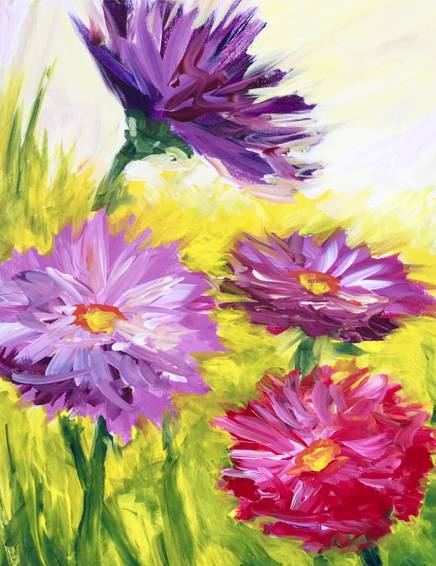 A Zinnia Pop paint nite project by Yaymaker