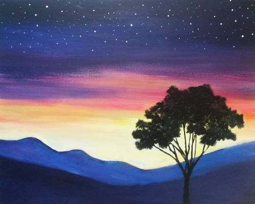 A Stars Come Up paint nite project by Yaymaker