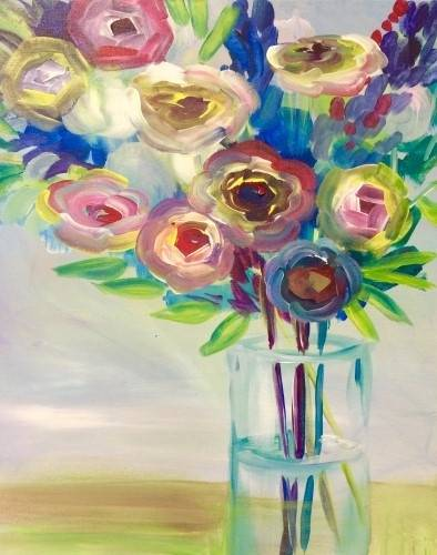 A Impressionist Flower Bouquet paint nite project by Yaymaker