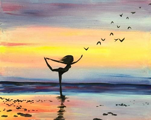 A Sunset Zen paint nite project by Yaymaker