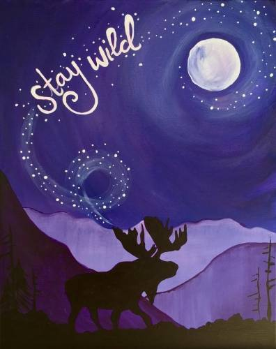 A Stay Wild paint nite project by Yaymaker