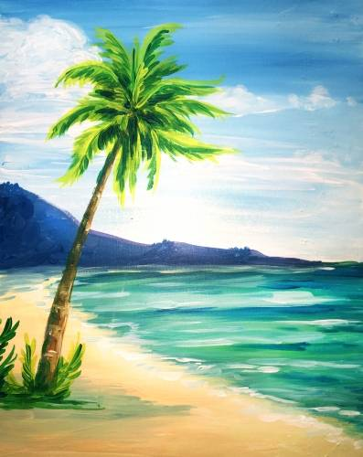 A At the Beach paint nite project by Yaymaker