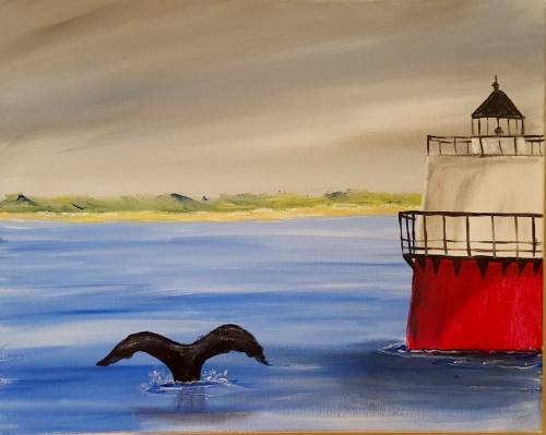 A Plymouth Harbors Bug Light paint nite project by Yaymaker