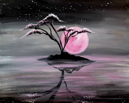 A Moonlight Tree of Life paint nite project by Yaymaker