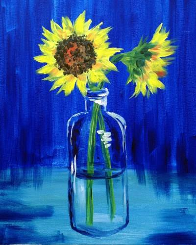A Sunflower Vase paint nite project by Yaymaker