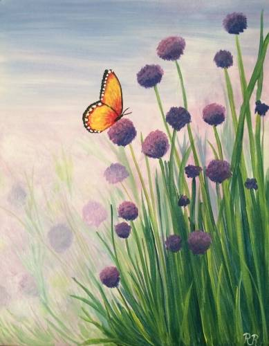 A Madame Butterfly paint nite project by Yaymaker