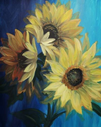 A Sunflowers in Bloom paint nite project by Yaymaker