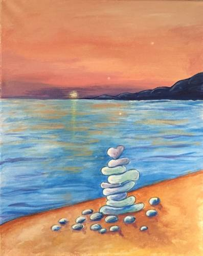 A Beach Glass paint nite project by Yaymaker