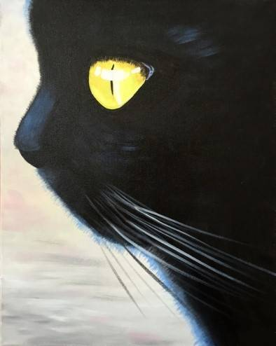 A Cat Noir paint nite project by Yaymaker