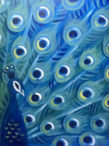 A Pretty as a Peacock paint nite project by Yaymaker
