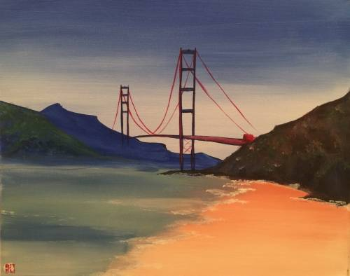 A Bakers Beach SF paint nite project by Yaymaker