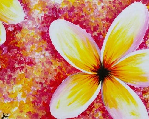 A Plumeria Hysteria II paint nite project by Yaymaker