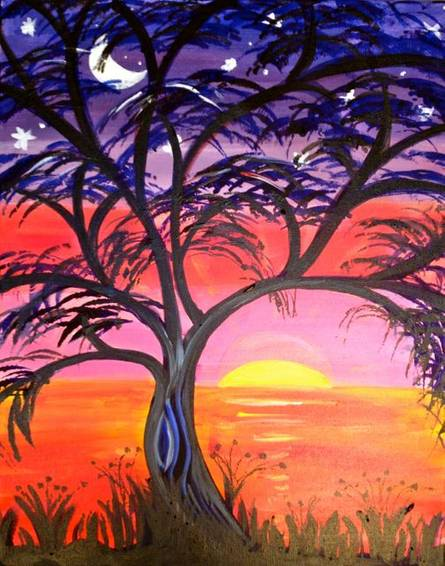 A California Sunset 1 paint nite project by Yaymaker