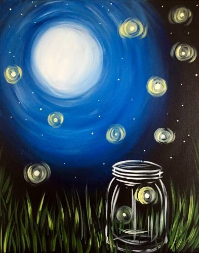A Catching Fireflies paint nite project by Yaymaker
