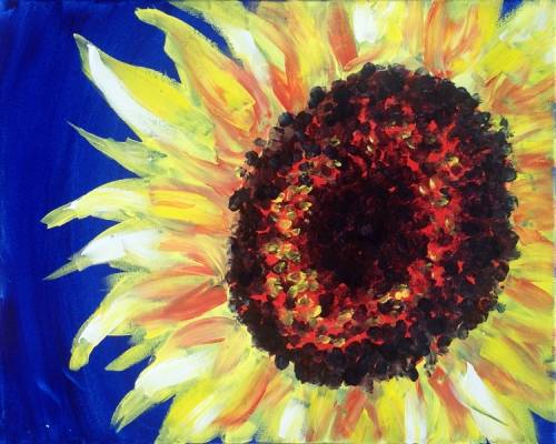 A Happy Sunflower II paint nite project by Yaymaker