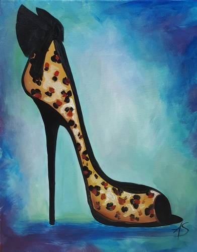 A Cougar Shoes paint nite project by Yaymaker