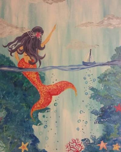A Mermaid Beach paint nite project by Yaymaker