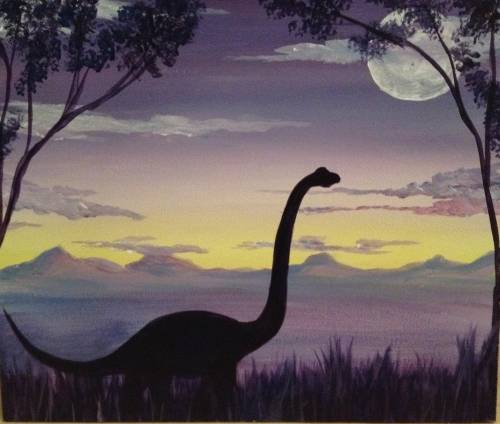 A Dino Island paint nite project by Yaymaker