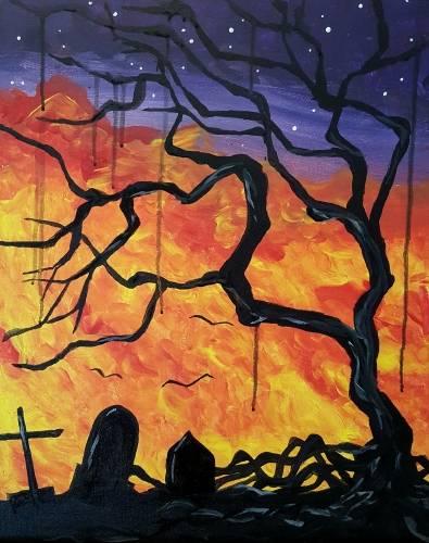 A Spooky Tree II paint nite project by Yaymaker