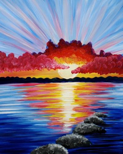 A Sun Salutation II paint nite project by Yaymaker