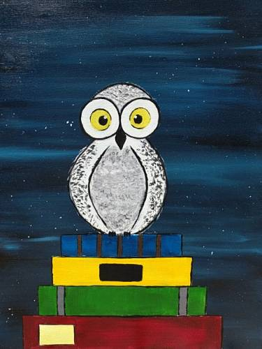 A The Wise Owl paint nite project by Yaymaker