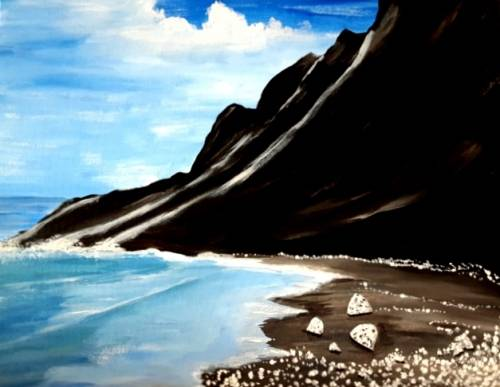 A Diamond Beach paint nite project by Yaymaker