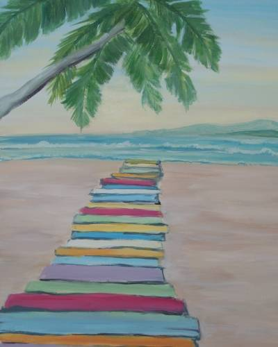 A Meet Me on the Boardwalk paint nite project by Yaymaker