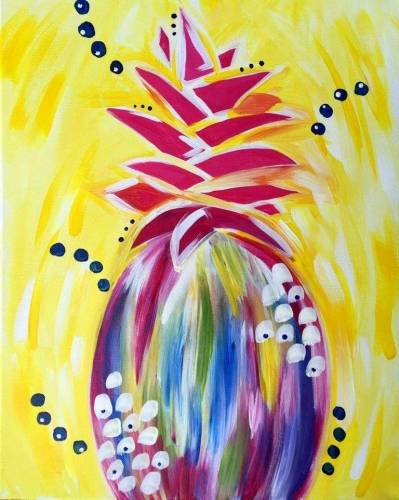 A Funky Pineapple paint nite project by Yaymaker