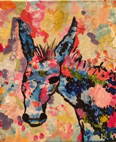A Arizona Burro paint nite project by Yaymaker