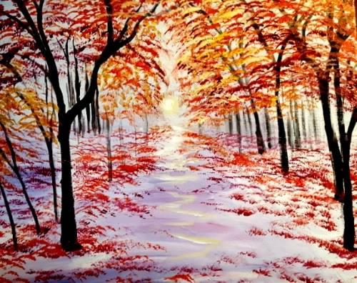 A Fall Lane paint nite project by Yaymaker