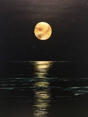 A Golden Moon paint nite project by Yaymaker