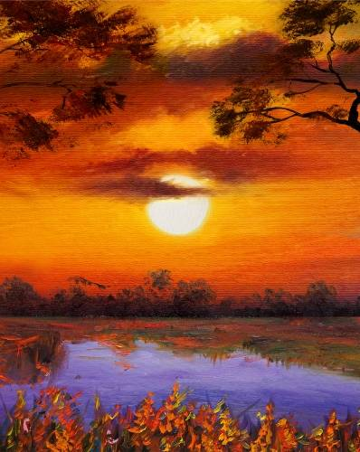 A Sunset Daydream paint nite project by Yaymaker