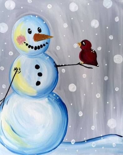 A Early Birdy Talk Snow paint nite project by Yaymaker
