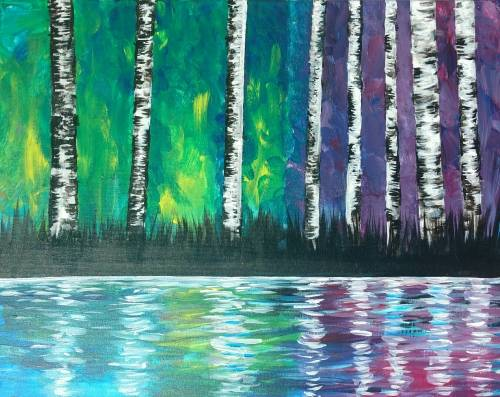 A Enchanted Birch paint nite project by Yaymaker