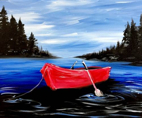 A Row Your Boat paint nite project by Yaymaker