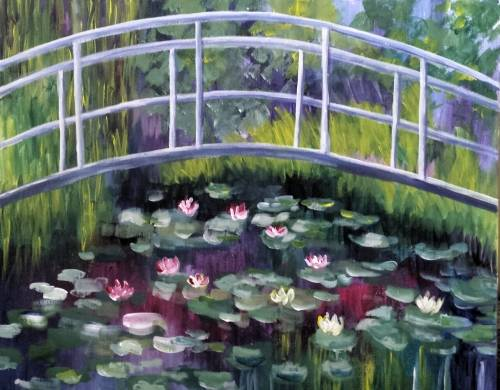 A Monets Garden paint nite project by Yaymaker