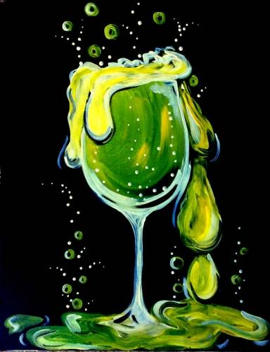 A Halloween Happy Hour paint nite project by Yaymaker