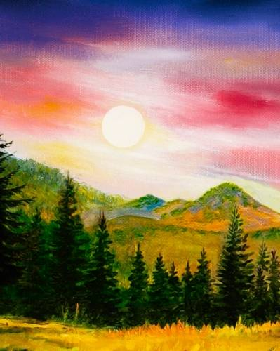 A Sunset Mountain paint nite project by Yaymaker