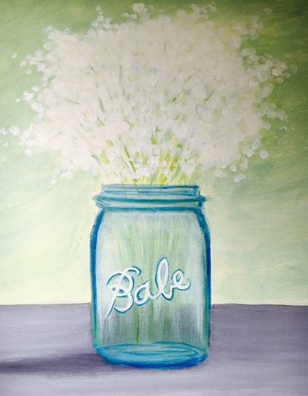 A Babys Breath paint nite project by Yaymaker