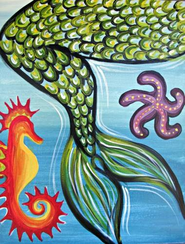 A A Mermaids Tail paint nite project by Yaymaker