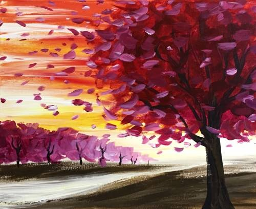 A Sunset Drift paint nite project by Yaymaker