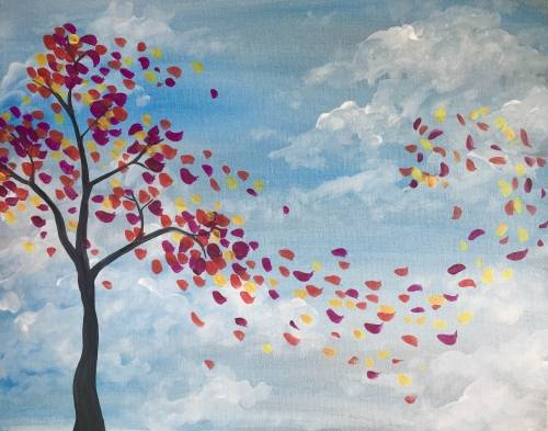 A Breeze Through Autumn paint nite project by Yaymaker